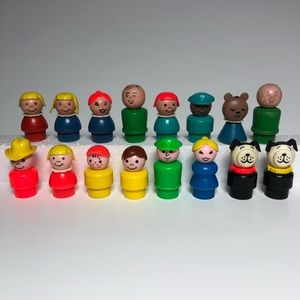 Vintage 60's / 70's Fisher Price Little People Assortment